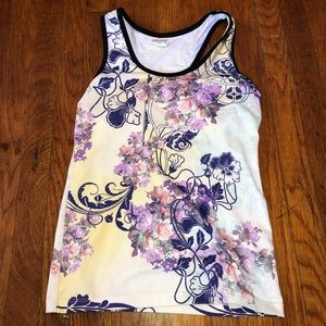 Floral design athletic shirt sz m